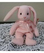 Ty Beanie Baby Hoppity the Pink Bunny 2 Tag Errors USED - $6.92