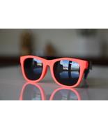 Classic Tortoise Sunglasses Neon Orange/ Rubber/ Black/ Black Lenses - $14.00