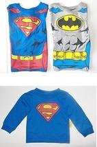 DC Comics Batman Superman Toddler Boys Long Sleeve T-Shirts Size 3T NWT - $9.79
