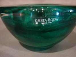 Kosta Boda ATOLL Emerald Dark Green Votive Candle Holder Anna Ehrner RETIRED - $21.99