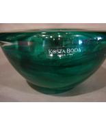 Kosta Boda ATOLL Emerald Dark Green Votive Candle Holder Anna Ehrner RET... - $21.99