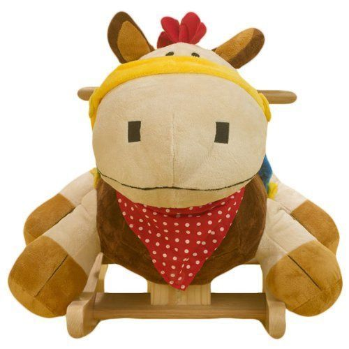 Rocking Horse Ride Soft Plush Baby Toddler Infant Boy Girl Classic Bedroom Toy