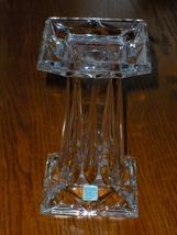 PartyLite 24% Lead Crystal Quad Prism Pedestal Candle Holder or Vase P7374 - $24.97