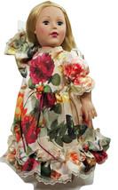 "Clothes American Handmade Red N Dress 18"" Inch Girl Doll (60B4B121) - $29.99"