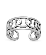 Women's Infinity Swirl Adjustable Toe Ring 14k White Gold FN 925 Sterlin... - $9.99