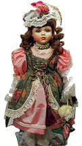 Doll New Beautiful Hand Painted Porcelain Lovely Clothes Victorian (L3GS) - $49.49
