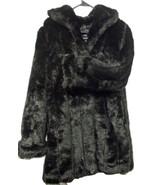 Dennis Basso Gorgeous Warm Faux Fur Coat Black Elegant Comfortable (3A4B... - $128.69