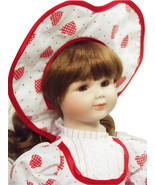 Marion Yu Designer of Beautiful Porcelain Doll in a Sweetheart Hat - $49.49