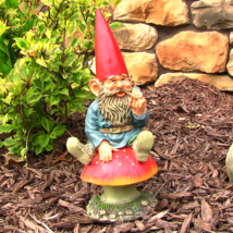 """Adam with Butterfly Gnome 14"""" Tall by Sunnydaze... - $36.15"""
