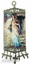 Blessed Virgin Mary Madonna Hanging Tapestry Icon Textile Banner Holy La... - $14.06