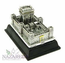 Beautiful Second Temple Jerusalem Statue Silver Plated 925' Replica Juda... - $57.89