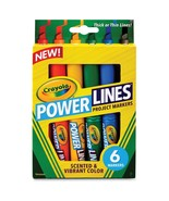 Crayola Power Lines 6-color Project Markers - $4.89