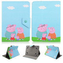 Peppa Pig Stand PU Leather Cover Case for 7