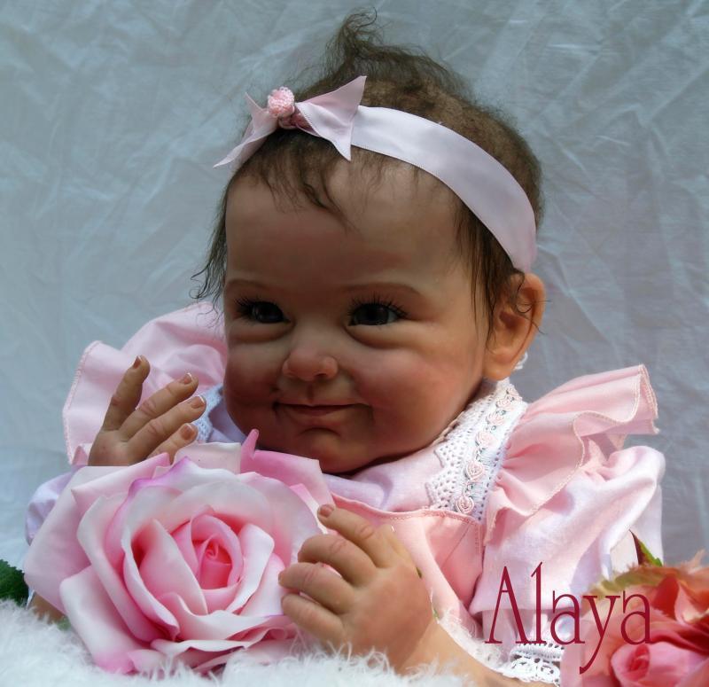 22inch Silicone Reborn Baby Alive Lifelike Girl Doll Kits ...
