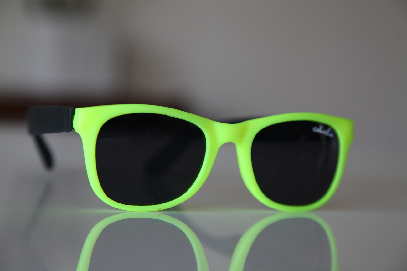 Classic Tortoise Sunglasses Neon Lemon Yellow/ Rubber/ Black/ Black Lenses