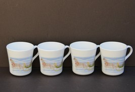 Set Of 4 Corning Corelle Country Memories Coffee Cups Mugs - $14.50