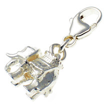 British Welded Bliss Sterling 925 Silver Charm, Indian Elephant Howdah F... - $23.00