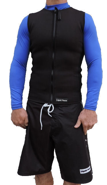Men's 2mm Neoprene Wetsuit Vest-Full Front Zipper, SuperStretch,Sizes: Small-3XL