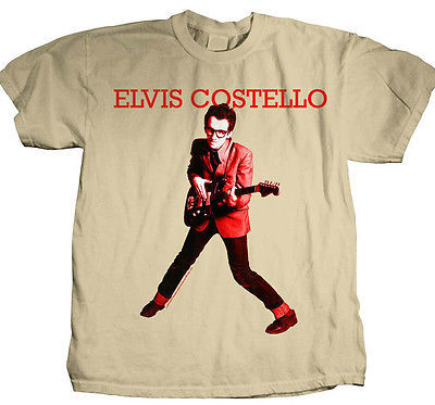 Elvis Costello T shirt retro 80's New Wave Punk rock 100% cotton graphic tee