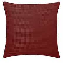 "Filled Intricate Diamond Waffle Effect Jacquard Red 18"" - 45CM Cushion - $20.58"