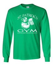 St Patrick's Gym Getting Our Drinking Arms Ready LONG SLEEVE Men's T Shi... - $12.82+