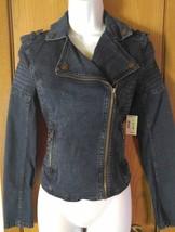 NWT Long Sleeve Aeropostale Jean Denim Asymmetrical Zipper Jacket Size S/P - $50.00
