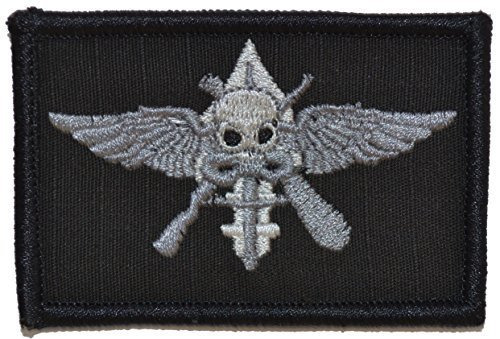 Marine Raider Badge Patch MarSOC 2x3 (Black)