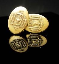 Naval Academy Cufflinks vintage jewel backs Navy poseidon military insignia unif - $255.00