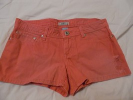 New Womans Juniors Sz 7 So Kohl's Brand Med Pink Denim Short Shorts Summer Beach - $19.78