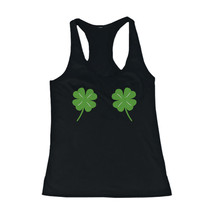 Four Leaf Clovers Women's Tank Top St Patricks Day Tanks Cute Tops for L... - $14.99+