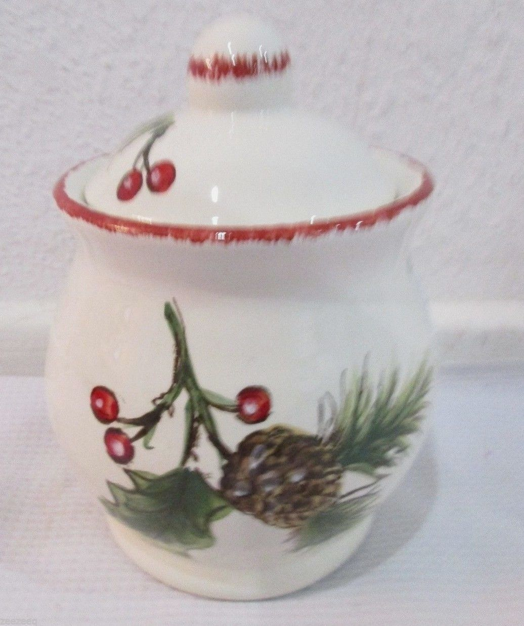 Maxcera CARDINAL TREE Christmas Sugar Bowl Conatiner & Maxcera Cardinal Tree Christmas Sugar Bowl and 11 similar items
