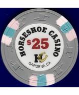 $25 Casino Chip, Horseshoe, Gardena, CA. B59. - $5.50