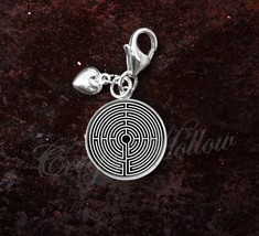 925 Sterling Silver Charm Labyrinth Greek mythology - $25.25
