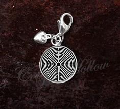 925 Sterling Silver Charm Labyrinth Greek mythology image 1