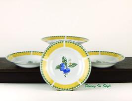Tienshan, Trieste, Set of 4 Rim Soup Bowls, MIN... - $14.46