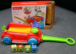 FISHER PRICE Roller Blocks Rockin Wagon TODDLER Pull Toy Stand Walk Bloc... - $24.99