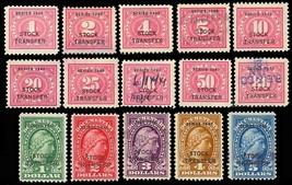 RD42-58, 15 Stock Transfer Revenue Stamps Cat $237.45 - Stuart Katz - $150.00