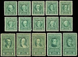 RD140-54, 15 Mint Stock Transfer Revenue Stamps Cat $288.85 - Stuart Katz - $225.00