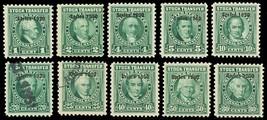 RD313-22, Ten Mint/Used Stock Transfer Revenue Stamps Cat $57.45 - Stuar... - $39.95