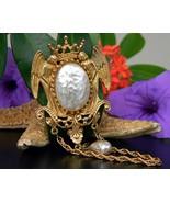 Vintage Angels Mirror Brooch Pin Baroque Pearl ... - $39.95