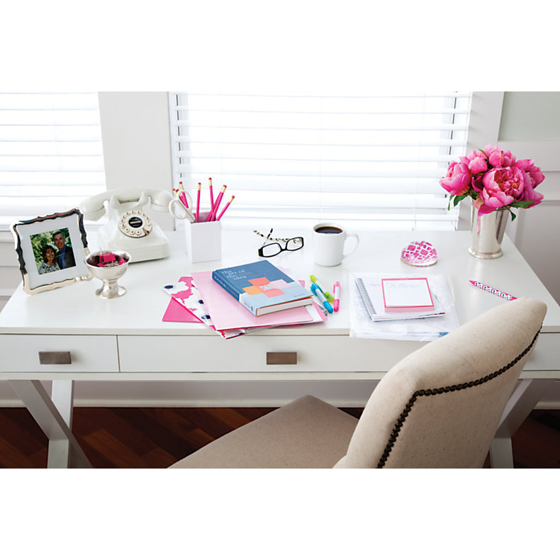 See Jane Work Kate Writing Desk White 384419 Desks