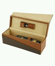 True Fabrications Black and Brown Wine Box Gift Set with Wine Opener Cor... - $52.35