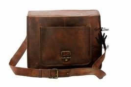 Men's Vintage Brown Leather Handbag Messenger Bag Shoulder Laptop Bag Briefcase image 4