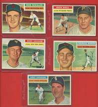 1956  TOPPS   LOT  OF  14  BASEBALL  CARDS   ALL  MID-GRADE  OR  BETTER ... - $74.99