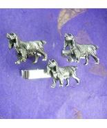 Mans best friend * Dog Cufflinks *Vintage Silver Canine Tie Clip * Golde... - $125.00