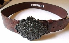 "Express Italian Leather belt S 29"" to 34"" Bronze buckle - ₹1,425.94 INR"
