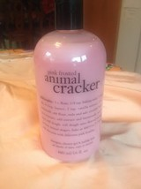 Philosophy Pink Frosted Animal Cracker 3-in-1 Shower Gel Shampoo Bubble Bath New - $18.99