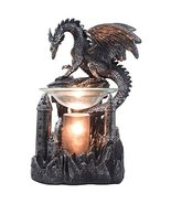 Mythical Winged Dragon Guarding Castle Electric Oil Warmer or Wax Tart B... - $34.60