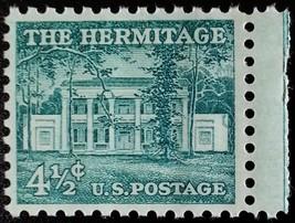 1959 4 1/2c The Hermitage, Andrew Jackson Scott 1037 Mint F/VF NH - $0.99