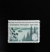 1958 3c Minnesota Statehood, 100th Anniversary Scott 1106 Mint F/VF NH - $0.99
